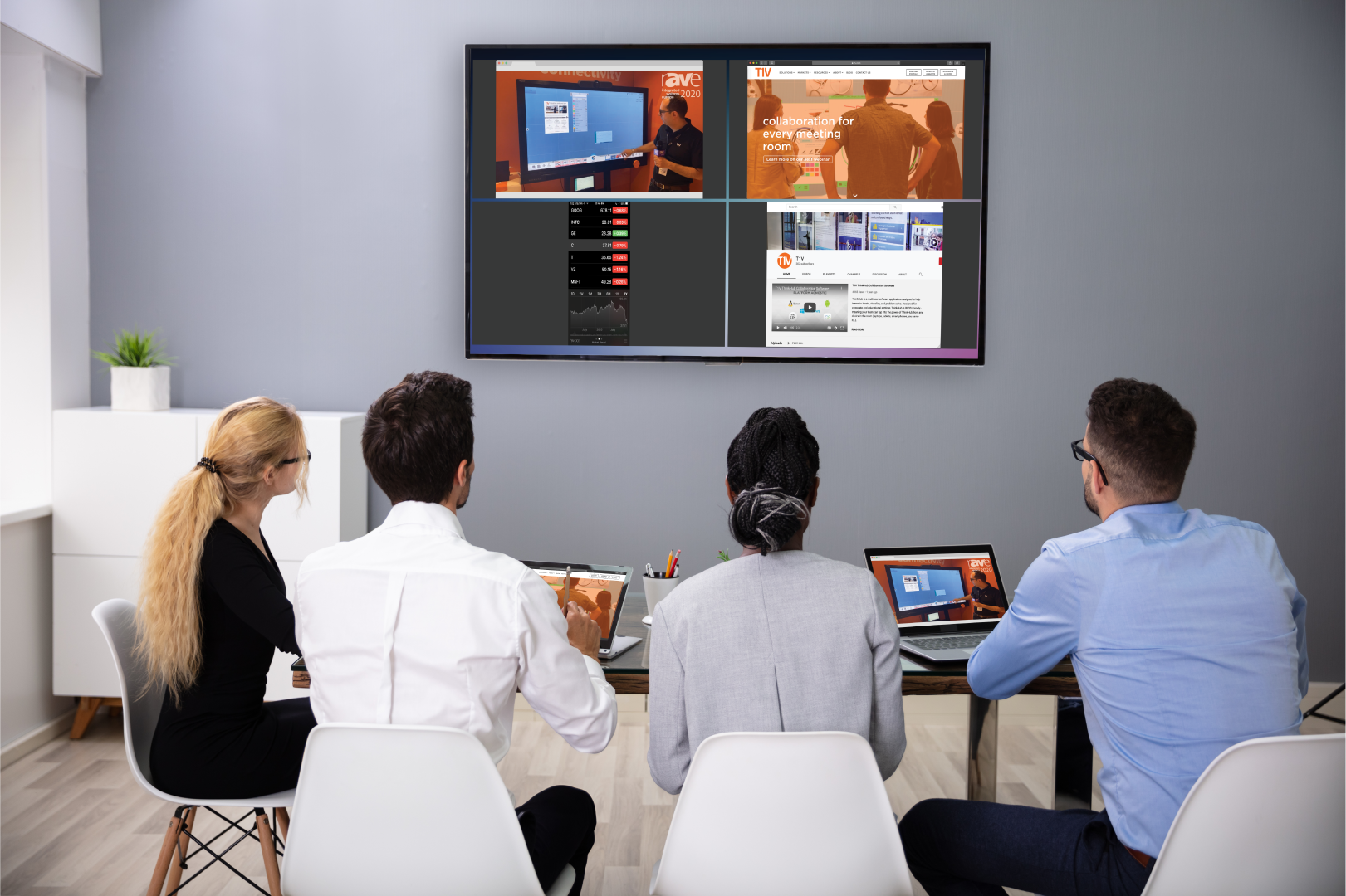 T1V-Hub-wireless-screen-sharing-device-for-collaboration-team-meetings